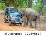 yala  sri lanka   august 24 ... | Shutterstock . vector #722595694