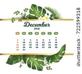 december 2018. tropical... | Shutterstock .eps vector #722599318