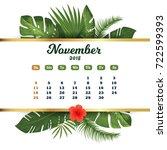 november 2018. tropical... | Shutterstock .eps vector #722599393