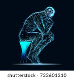 abstract image of a thinking... | Shutterstock .eps vector #722601310