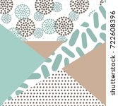 geometric card vector... | Shutterstock .eps vector #722608396