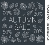 autumn sale. promotional poster ... | Shutterstock .eps vector #722610928