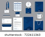 blue geometric corporate... | Shutterstock .eps vector #722611363