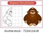 monkey  gorilla materials for... | Shutterstock .eps vector #722611618