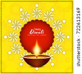 abstract happy diwali bright... | Shutterstock .eps vector #722613169