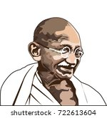 gandhi.india's father of the... | Shutterstock .eps vector #722613604