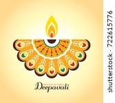 diwali or deepavali symbol or... | Shutterstock .eps vector #722615776