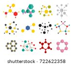 colorful molecular structures... | Shutterstock .eps vector #722622358