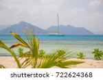 sailing yacht seen from... | Shutterstock . vector #722624368