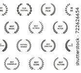 black and white film award... | Shutterstock .eps vector #722626654