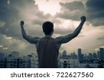 people power  and overcoming... | Shutterstock . vector #722627560