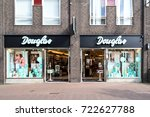 Small photo of GOUDA, NETHERLANDS - September 22, 2017: Douglas branch in the city center. Douglas is a German perfume and cosmetics retailer and has more than 1,700 stores and franchised outlets across Europe.