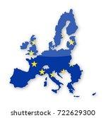 european union flag country... | Shutterstock .eps vector #722629300