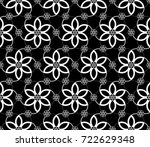 black and white minimalistic... | Shutterstock .eps vector #722629348