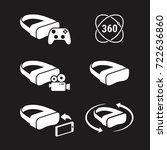 vr icons | Shutterstock .eps vector #722636860