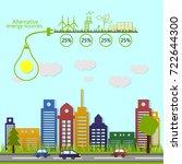 renewable energy. alternative... | Shutterstock .eps vector #722644300