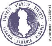 vintage albania european... | Shutterstock .eps vector #722650468