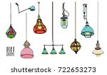 collection of different colored ... | Shutterstock .eps vector #722653273