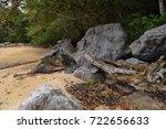 tioman island coast. south... | Shutterstock . vector #722656633