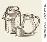 Vector Image Of A Milk Caniste...