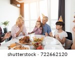 the family congratulates the... | Shutterstock . vector #722662120