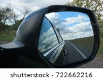 rear view mirror and... | Shutterstock . vector #722662216