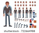business man character... | Shutterstock .eps vector #722664988