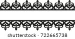 set of lace borders | Shutterstock .eps vector #722665738