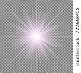 sunlight with lens flare effect ... | Shutterstock .eps vector #722668453