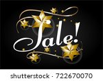 sale text  beautiful greeting... | Shutterstock .eps vector #722670070