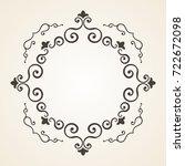 victorian frame. floral frame ... | Shutterstock . vector #722672098