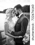 stylish couple of happy... | Shutterstock . vector #722676160