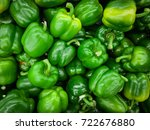 green sweet peppers in the... | Shutterstock . vector #722676880