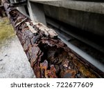 rust and corrosion in the... | Shutterstock . vector #722677609