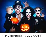 happy family mother father and... | Shutterstock . vector #722677954
