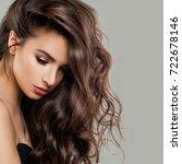 sexy beautiful woman fashion...   Shutterstock . vector #722678146