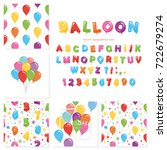 balloon big set. for birthday... | Shutterstock .eps vector #722679274