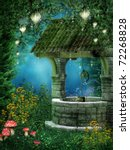 Fantasy Wishing Well With Fair...
