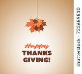 happy thanksgiving card design... | Shutterstock .eps vector #722689810