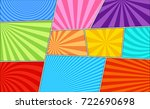 comic book page background with ... | Shutterstock .eps vector #722690698