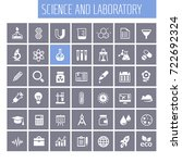 science and laboratory icon set | Shutterstock .eps vector #722692324