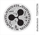 crypto currency black coin with ... | Shutterstock .eps vector #722693236