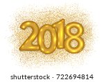2018 gold text design on... | Shutterstock .eps vector #722694814
