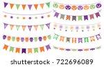 cute vector buntings for...   Shutterstock .eps vector #722696089