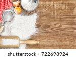 dough preparation. food... | Shutterstock . vector #722698924