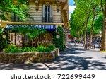 boulevard saint germain in... | Shutterstock . vector #722699449