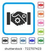 smart contract handshake icon.... | Shutterstock .eps vector #722707423
