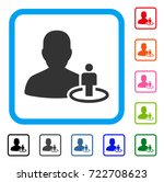 portal moderator icon. flat...