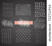 hand drawn hipster textures...   Shutterstock . vector #722711914