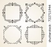 set of ornate page decor...   Shutterstock . vector #722711944
